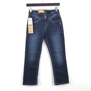 Silver Jeans Suki Super Stretch Mid Capri Denim 25